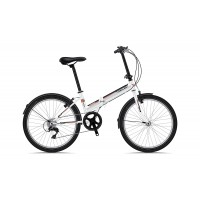 Bicicleta Sprint Traffic 24 Pliabila Alb Lucios 2019