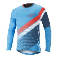 Bluza Alpinestar Predator LS Jersey bright blue/poseidon orange M