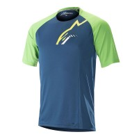 Tricou Alpinestar Trailstar S/S Jersey poseidon blue/summer green L