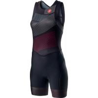 Costum Triatlon Castelli Free W Tri Suit de dama Negru/Multicolor XS