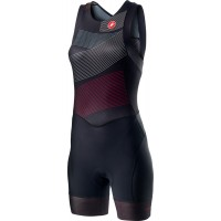 Costum Triatlon Castelli Free W Tri Suit de dama Negru/Multicolor XL