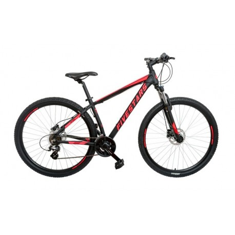 Bicicleta Fivestars Rebel 29 HDB 430mm Negru/Rosu 2020