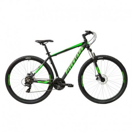 Bicicleta Fivestars Rocky 29 MDB Negru/Verde 2021 - 440mm