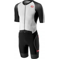 Costum Triatlon Castelli All Out Speed Negru/Alb XXL