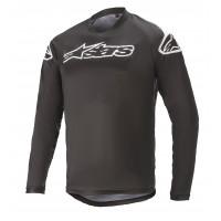Tricou Alpinestars Racer V2 LS Black/ White XL