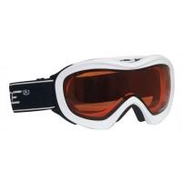 Ochelari ski Force albi lentile portocalii