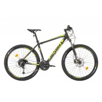 Bicicleta Sprint Apolon Pro 27.5 negru mat/verde lime 2017-440 mm