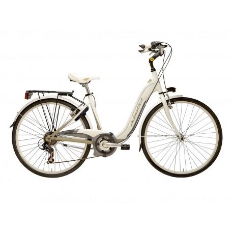 Bicicleta Adriatica Relax 26 6V alb/sampanie