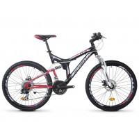 Bicicleta Robike Hunter 26 DD negru/alb/rosu 48cm 2016