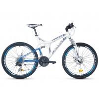 Bicicleta Robike Hunter 26 DD alb/albastru 48cm 2016
