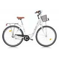 Bicicleta Robike Elise N3 26 alba 46cm 2016