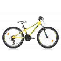 Bicicleta Robike Hat Trick 24 galben/negru/albastru 2016