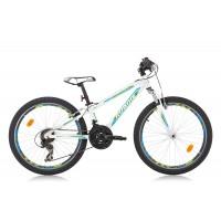Bicicleta Robike Hat Trick 24 alb/verde/albastru 2016