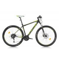 Bicicleta Sprint Apolon Pro 27.5 negru mat/verde lime 2016-440 mm