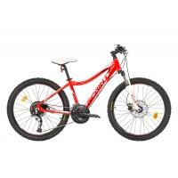 Bicicleta Sprint Apolon 24 HDB rosu/alb 2017