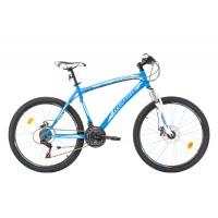 Bicicleta Robike Cougar DD 26 albastru/alb 2017-480 mm