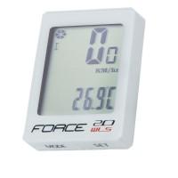 Ciclocomputer Force WLS 20F fara fir alb